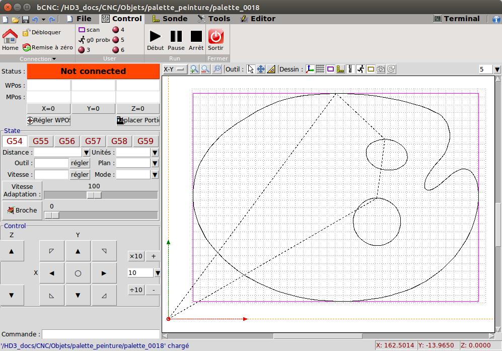 Lo Furòl - Utiliser Inkscape et bCNC pour piloter une CNC