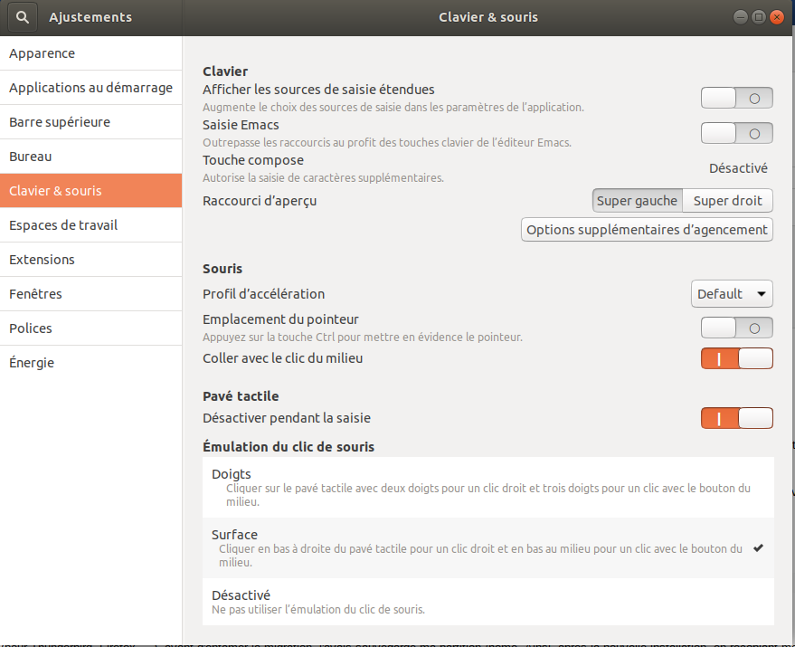 Ubuntu Tweak Pave Tactile
